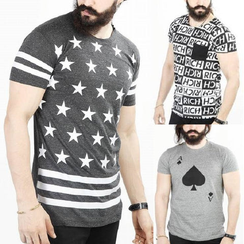 Pack of 3 RICH Printed Half Sleeves T-Shirts