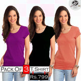 Pack of 3 Ladies T shirts