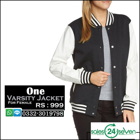 Varsity Jacket for Female Navy