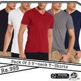 Pack of 5 V neck t Shirts