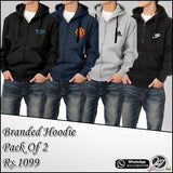 Pack of 2 Zipper Hoodies