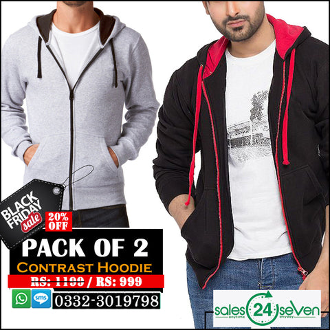 Pack of 2 Contrast hoodies