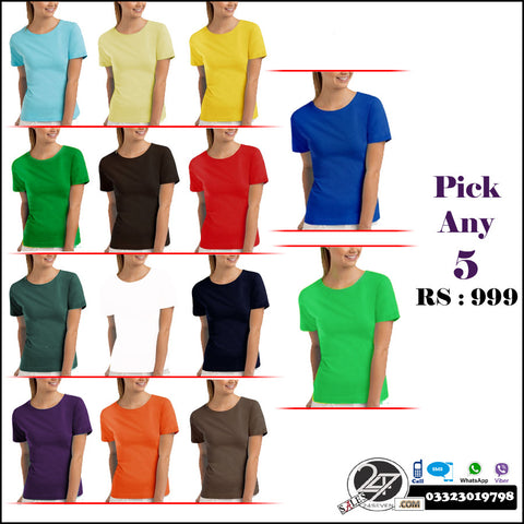 Pick any 5 ladies T shirts
