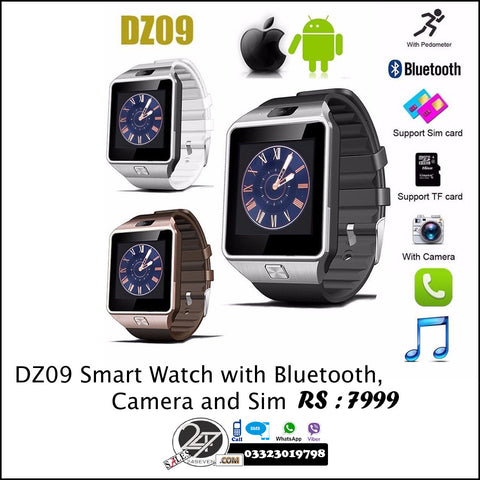 DZ09 Smart Watch with Bluetooth, Camera and Sim