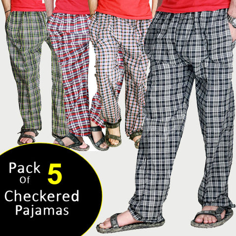 Pack of 5 checkered Trousers