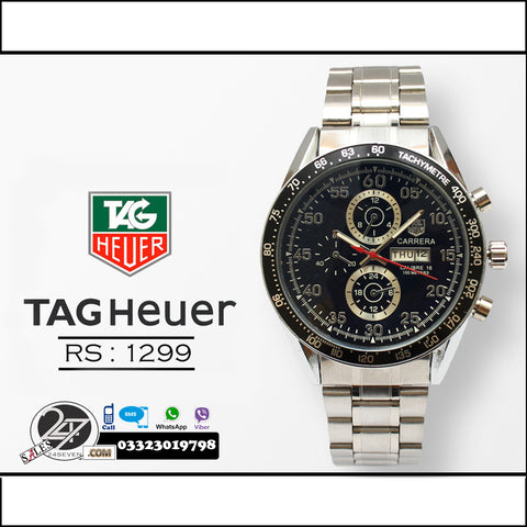 Tag Heuer Calibre 16 Chain Wrist Watch