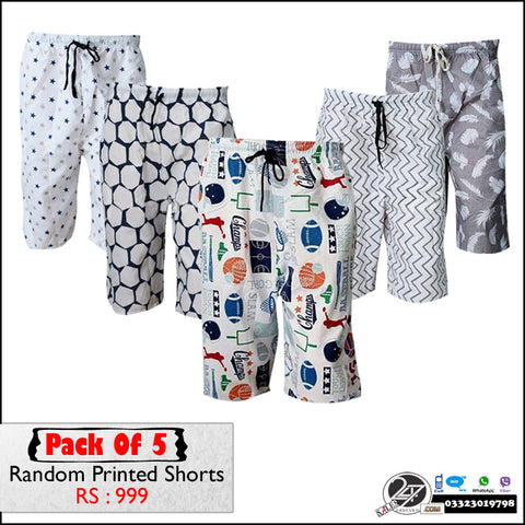 Pack of 5 Random Printed Shorts