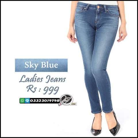 Sky Blue Ladies Jeans