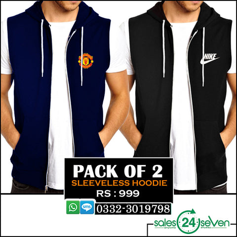Pack of 2 Sleeveless Hoodies
