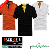 Pack of 3 slim fit t-shirts