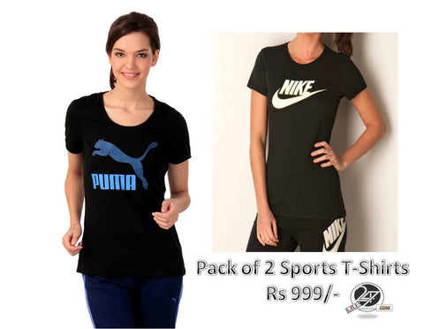 Pack of 2 sports T shirts
