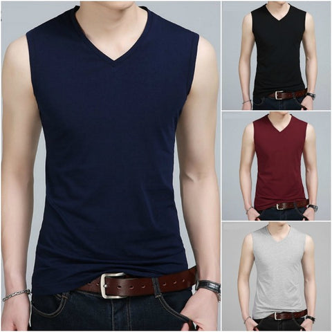 Pack of 4 V-Neck Style Tank Tops