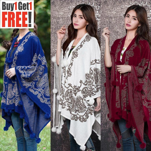 Buy 1 Get 1 Free French Terry Printed Shawl