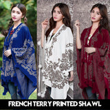 11-11 Sale FRENCH TERRY PRINTED SHAWL