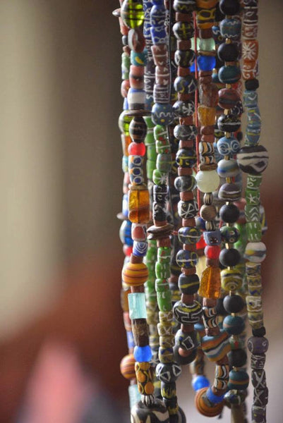 Strands of mixed beads