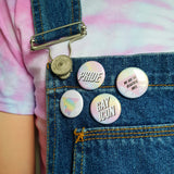 Gay Pride Pastel Fab Badge Pack of Four - 'Gay Icon', 'Unicorn', 'Pride' and 'We are the Beautiful Ones'