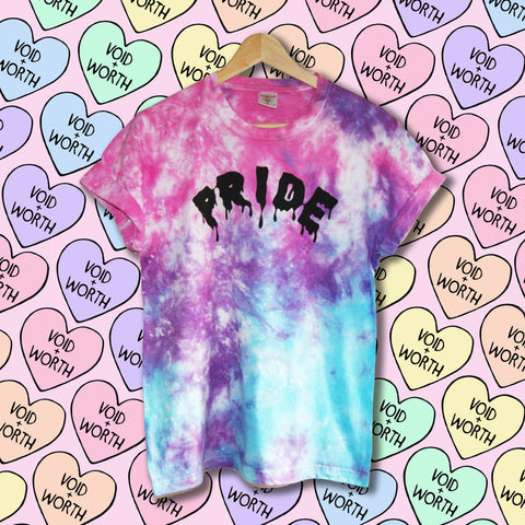 Pride Tie-Dyed 'Pride' Bisexual Pride Flag Void and Worth T-shirt
