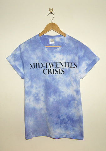 Tie-Dyed 'Mid-Twenties Crisis' Void and Worth T-shirt