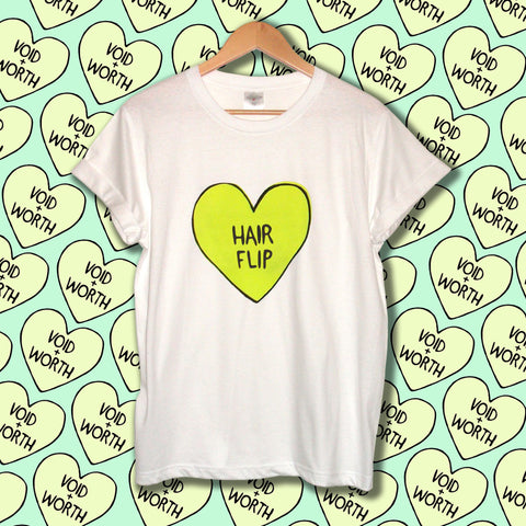 Tumblr Heart 'Hair Flip' Void and Worth T-shirt