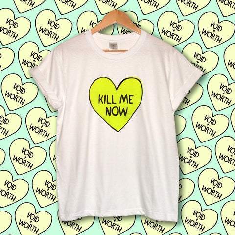 Tumblr Heart 'Kill Me Now' Void and Worth T-shirt