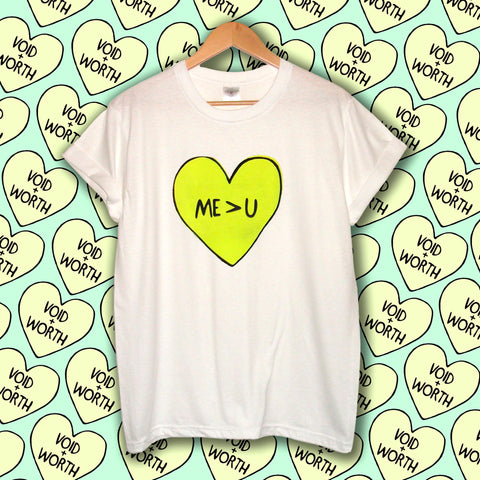 Tumblr Heart 'Me > U' Void and Worth T-shirt