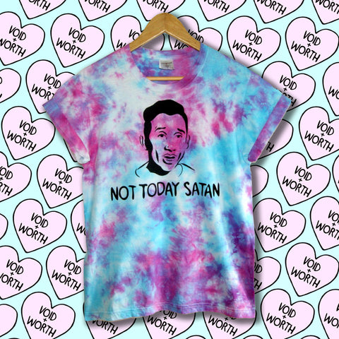Tie-Dyed 'Not Today Satan' Void and Worth Queens T-Shirt