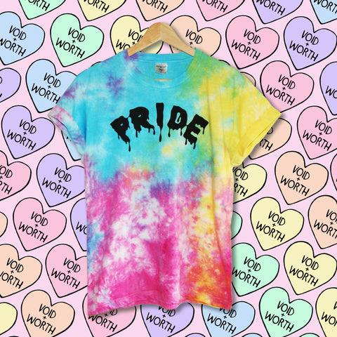 Pride Tie-Dyed 'Pride' Pansexual Pride Flag Void and Worth T-shirt