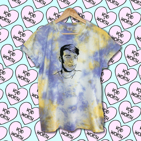 Tie-Dyed 'Pearl' Void and Worth Queens T-Shirt