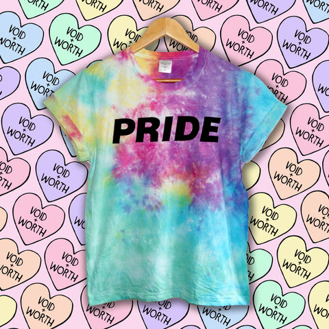 Gay Pride Tie-Dyed 'Pride' Void and Worth T-shirt