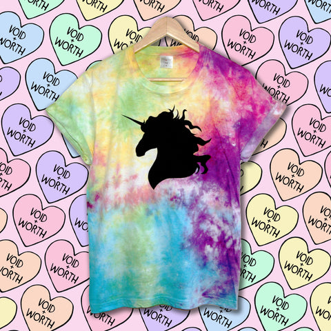 Gay Pride Tie-Dyed 'Unicorn' Void and Worth T-shirt