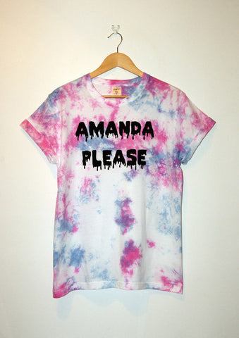 Tie-Dyed 'Amanda Please' Void and Worth T-shirt