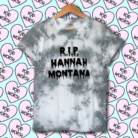 Tie-Dyed 'R.I.P. Hannah Montana' Void and Worth T-shirt