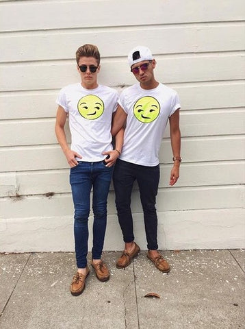 Neon 'Side eye Emoji' Void and Worth T-shirt