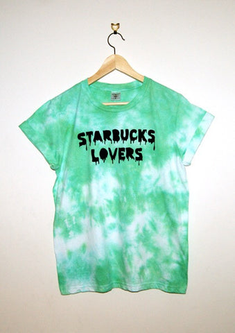 Tie-Dyed 'Starbucks Lovers' Void and Worth T-Shirt
