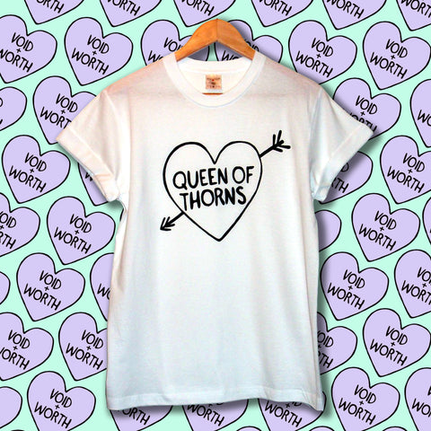 'Queen of Thorns' Void and Worth Arrow Heart T-Shirt
