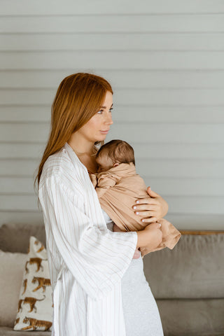 Chelsea Allen and baby Navy captured by Ingrid Coles - Featuring Chekoh Ring Sling Carrier