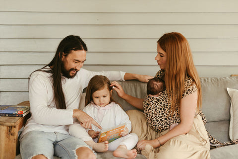 Brad, Chelsea and family sharing a sweet moment - captured by Ingrid Coles