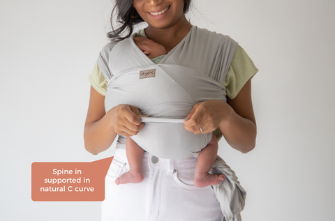safe babywearing how to chekoh newborn baby carrier