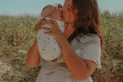 Kisses made easy with Chekoh Baby Wrap Carriers