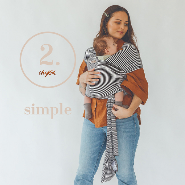 Chekoh stretchy Wrap baby carrier best for newborns australia