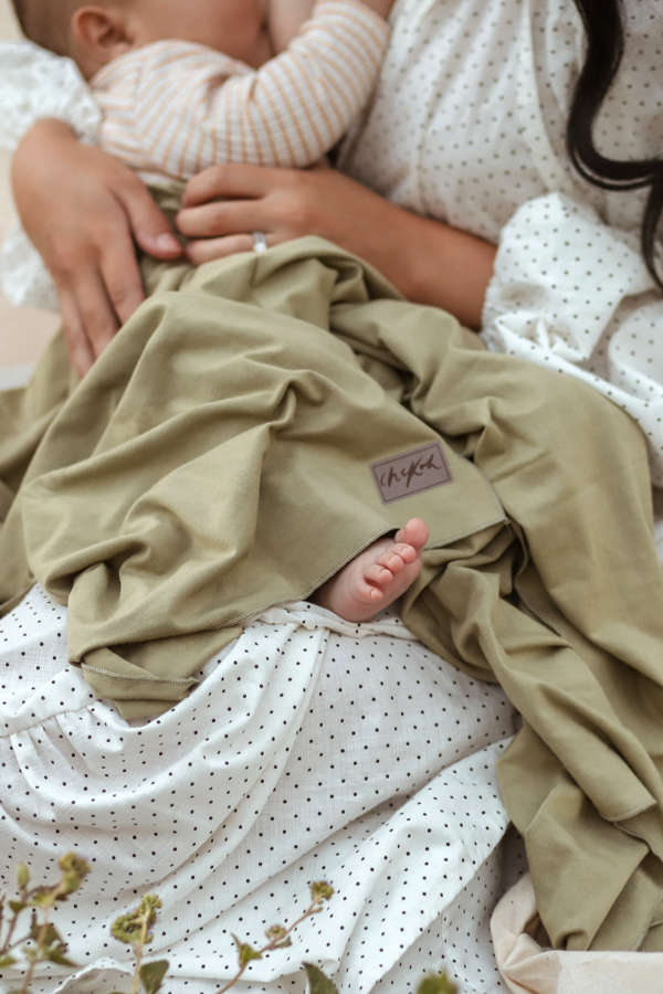 Chekoh swaddle baby wrap in bamboo for newborn blanket