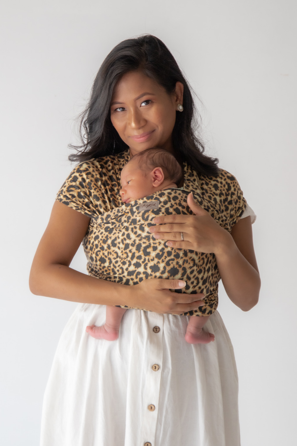 leopard baby wrap carrier for newborn australian australia chekoh baby carrier bamboo