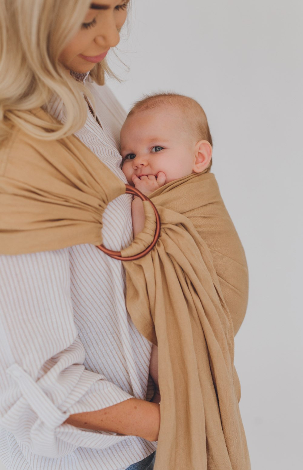 australia's best chekoh camel baby sling carrier for newborns, infants and toddlers