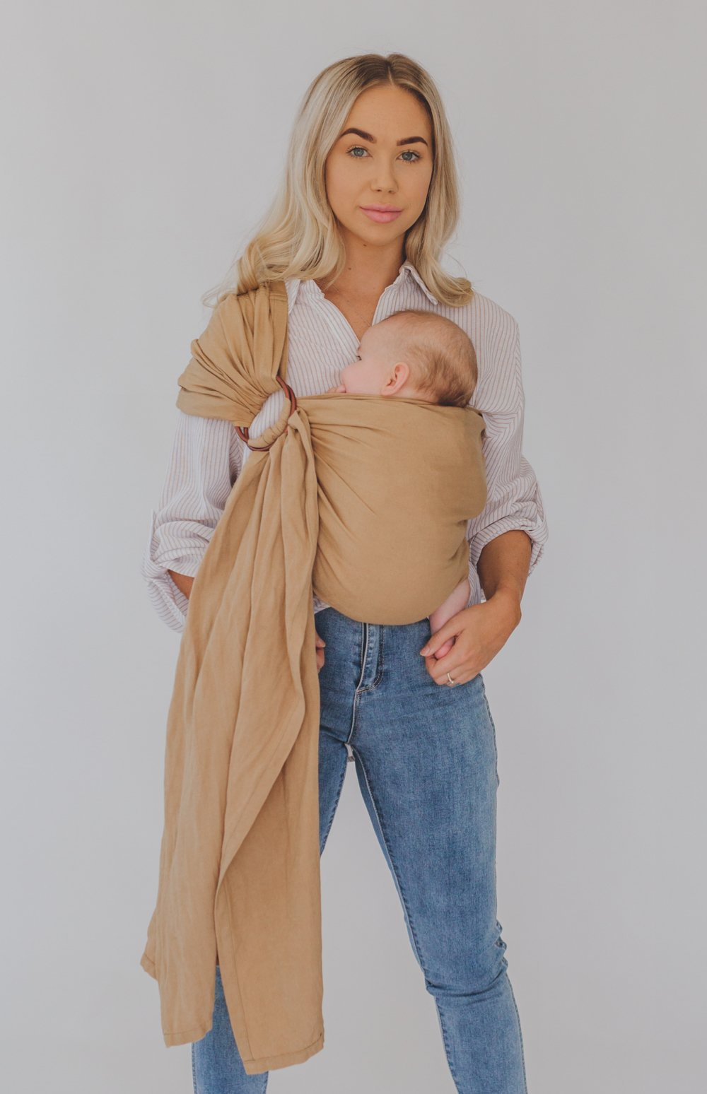 australia's best chekoh camel baby sling carrier for newborn, infant and toddler