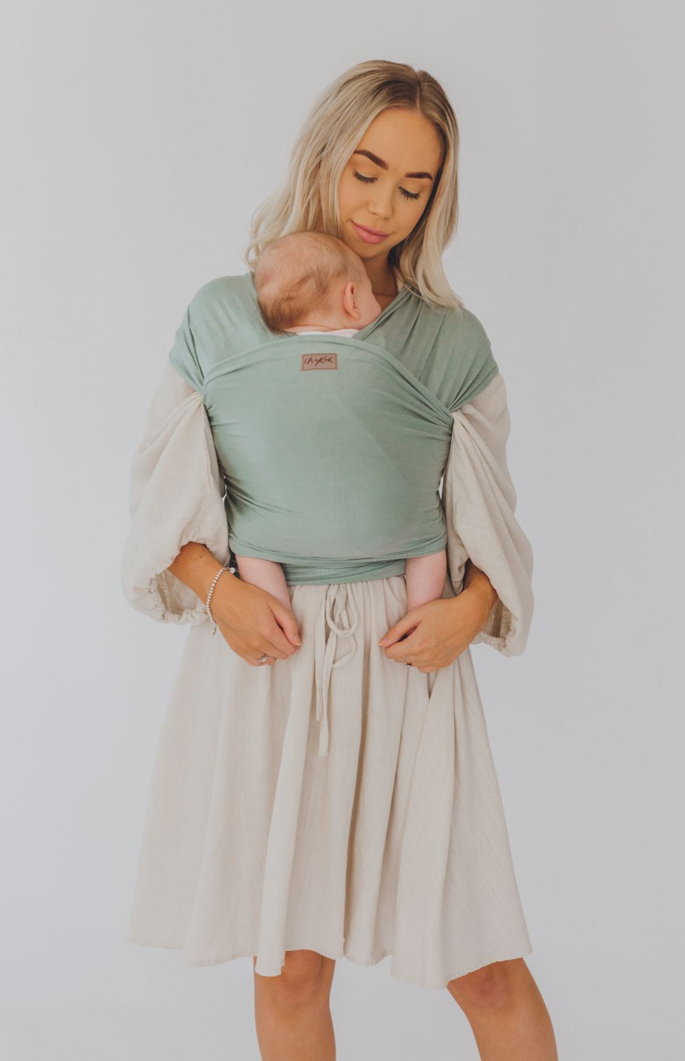 australia's best chekoh teal baby wrap carrier for newborn infant