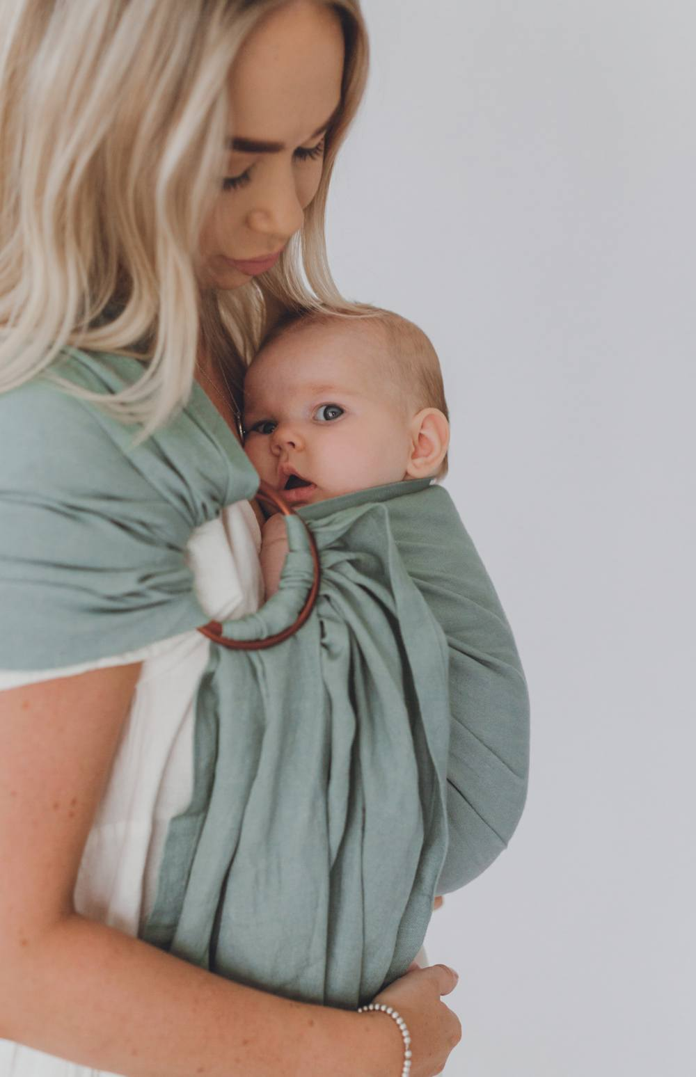 australia's best chekoh teal sling baby carrier for newborn infant and toddler