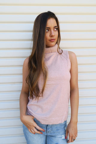 The Style Insider | Kylie Cross Back Knit - Blush