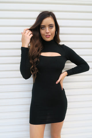 Kylie Cut Out Dress Black