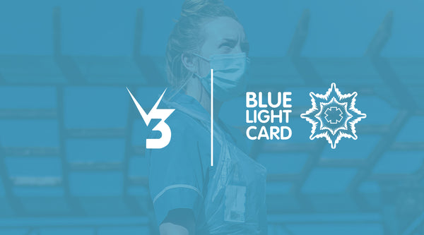 Blue Light Card emergency services, armed forces discount V3Apparel.com