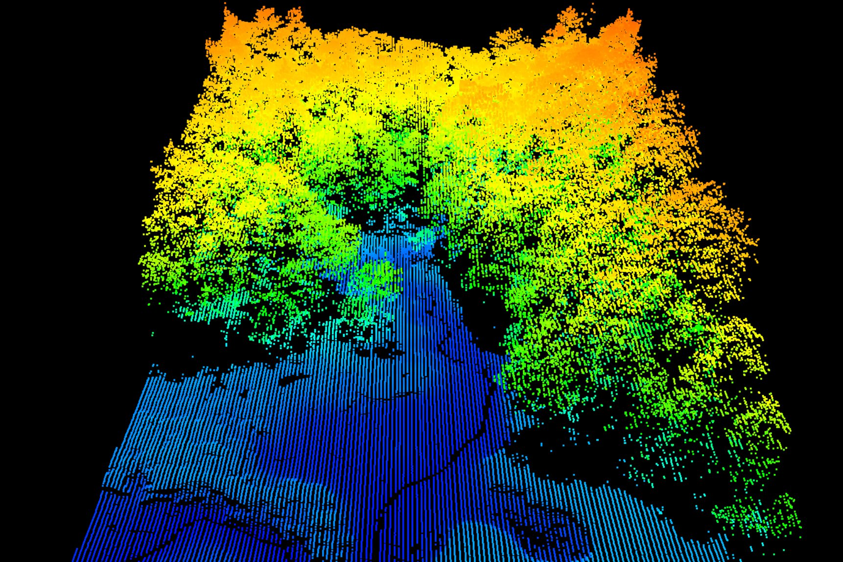 Pachama uses tech like LIDAR to calculate biomass density in the forests their projects protect. Pachama